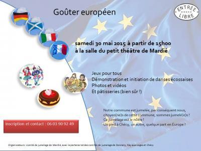 Affiche Gouter europeen Mardié